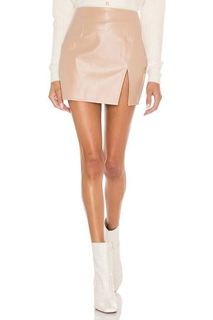 superdown Trinity Faux Leather Skirt in . Size XXS, XS, S, M, XL.