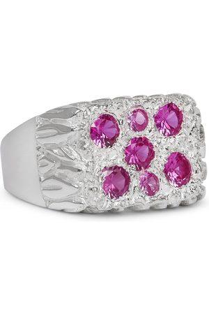 Bleue Burnham Men Rings - Bouquet Sterling Sapphire Signet Ring