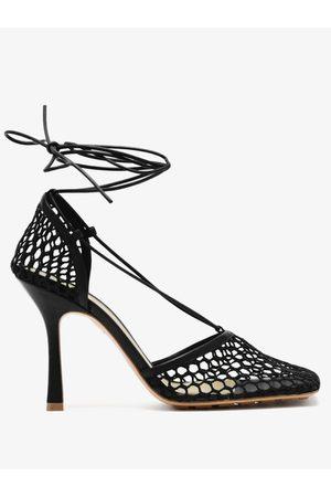 Bottega Veneta Women Heels - Stretch Wraparound Leather And Mesh Pumps - Womens