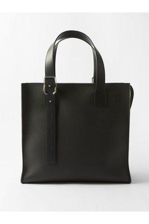 Loewe Buckle Grained-leather Tote Bag - Mens