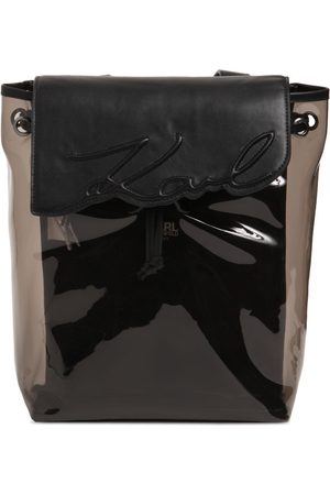Karl Lagerfeld Faux Leather & Pvc Backpack