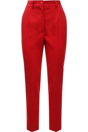 Dolce & Gabbana High Waist Stretch Wool Blend Crop Pants