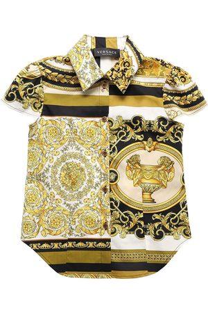 VERSACE Baroque Print Cotton Poplin Shirt