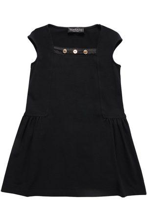VERSACE Sleeveless Cotton Jersey Dress