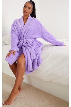PRETTYLITTLETHING Lilac Oversized Fluffy Dressing Gown