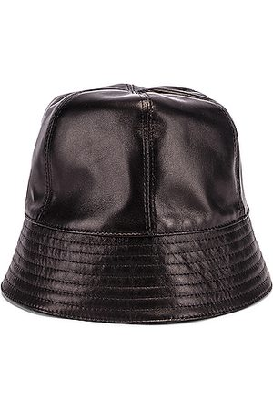 Loewe Women Hats - Leather Bucket Hat in