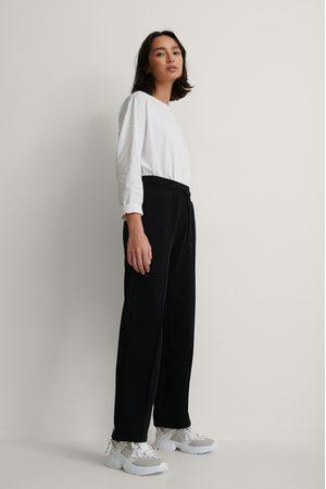 NA-KD Seam Detail Sweatpants - Black
