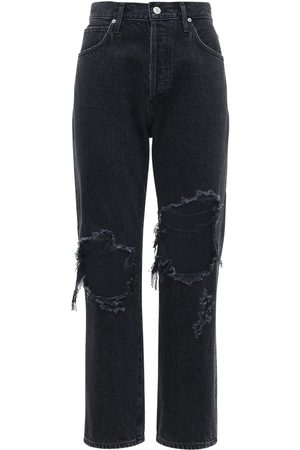 Citizens of Humanity Emery Crop Relaxed Straight Cotton Jeans