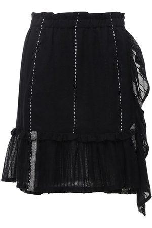Lemlem Tikuri Striped Cotton Mini Skirt