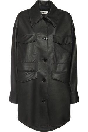 MM6 MAISON MARGIELA Faux Leather Jacket