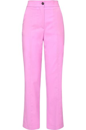 Msgm Straight Wool Pants