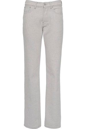 Maison Margiela Women Jeans - Raw Bull Cotton Denim Jeans