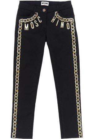 Moschino Girls Trousers - Printed Satin Pants