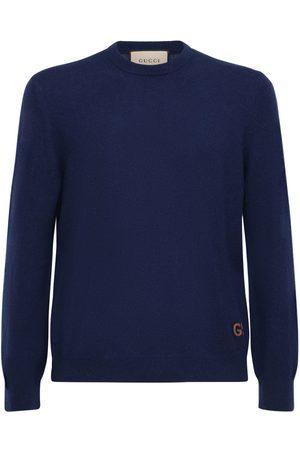 Gucci Gg Embroidery Cashmere Sweater