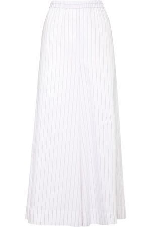 Max Mara Striped Cotton Poplin Pants