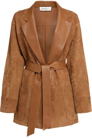 Max Mara Suede Jacket W/ Leather Belt