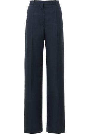 Lanvin Women Trousers - High Waist Woven Wool & Mohair Pants