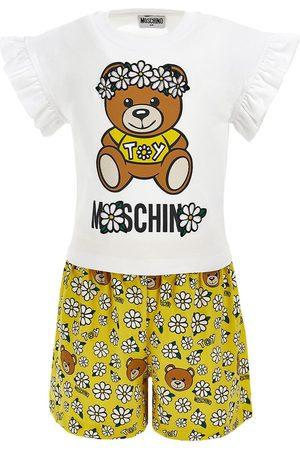 Moschino Girls T-shirts - Daisy Print Jersey T-shirt & Shorts