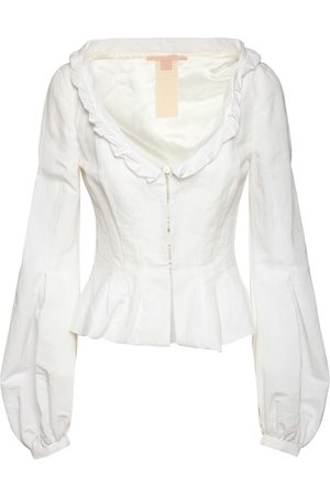 BROCK COLLECTION Cotton Blend Peplum Jacket