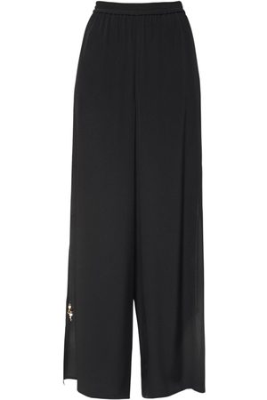 Max Mara Silk Crepe De Chine Wide Leg Pants