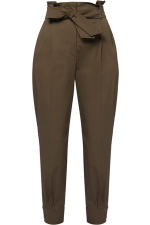 Max Mara High Waist Cotton Twill Pants