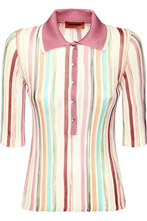 Missoni Women Polo Shirts - Striped Viscose & Cotton Knit Polo