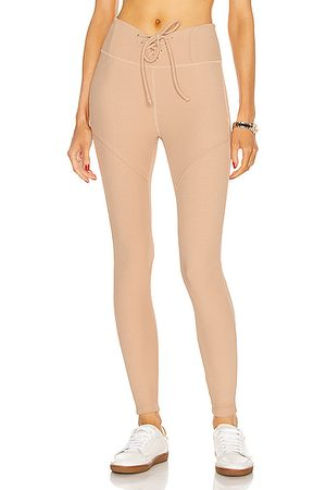 YEAR OF OURS Thermal Hockey Legging in Tan