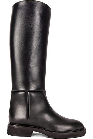 Khaite Derby Knee High Riding Boots in