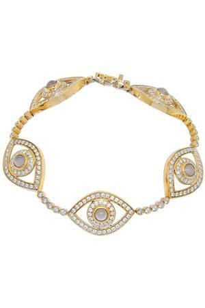 NETALI NISSIM Yellow Gold and Diamond Five Eye Bracelet