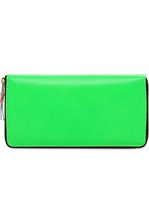 COMME DES GARÇONS WALLET Super Fluo Leather Zip Around Wallet