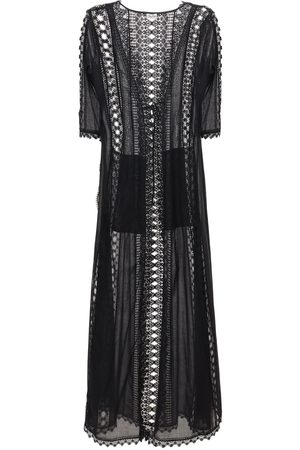 CHARO RUIZ IBIZA Ali Cotton & Lace Long Caftan