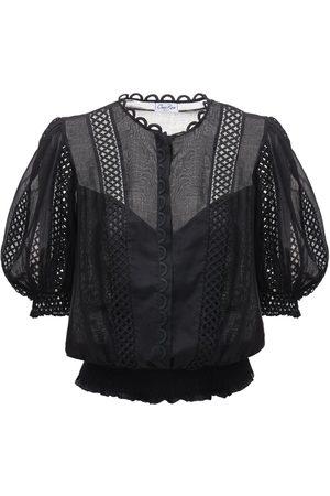 CHARO RUIZ IBIZA Estela Broderie Cotton Voile Shirt