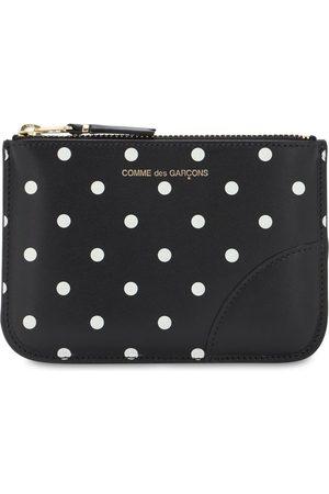 Comme des Garçons Polka Dots Printed Leather Wallet