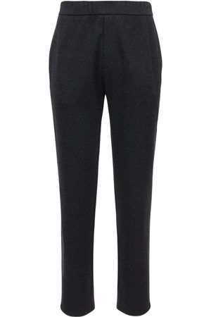 The Row Wool & Cashmere Felt Pants