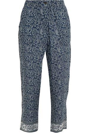 Vanessa Bruno Women Skinny Trousers - Woman Slim Leg Pants Navy Size 34