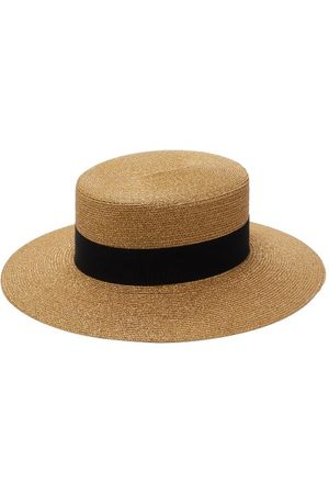 Gucci Bee-logo Faux-straw Boater Hat - Womens