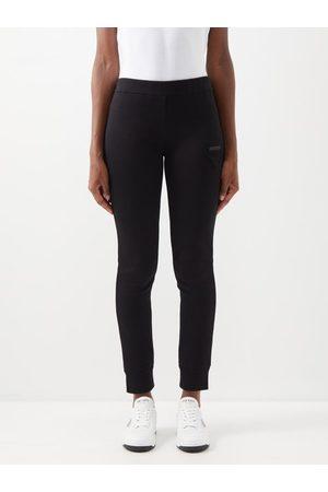 Prada Triangle Logo-patch Cotton-blend Jersey Leggings - Womens