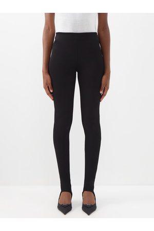 Prada Women Leggings - Stirrup-cuff Stretch-jersey Leggings - Womens