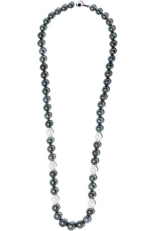 Yoko London Women Necklaces - 18kt white gold Twilight diamond, Tahitian and south sea pearl necklace