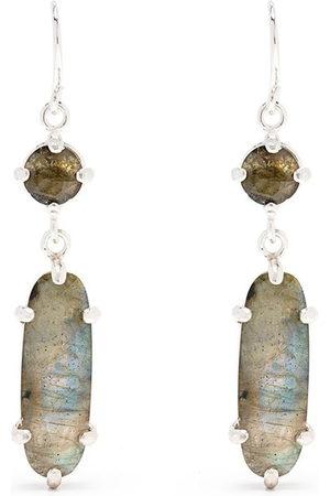 Wouters & Hendrix Women Earrings - Labradorite hook earrings