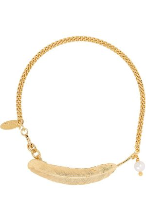 WOUTERS & HENDRIX Voyages Naturalistes pearl feather bracelet