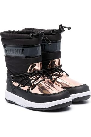 Moon Boot Wellingtons - Metallic-panel snow boots