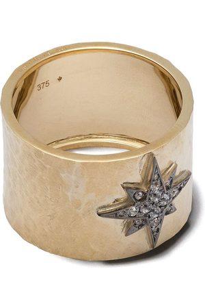 Feidt Paris 9kt yellow Constellation Etoile sapphire ring