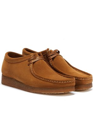 Clarks Men Loafers - Wallabee Mens Cola Shoes