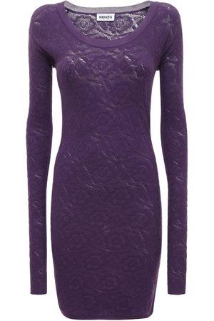 Kenzo Women Bodycon Dresses - Bodycon Stretch Cotton Blend Lace Dress
