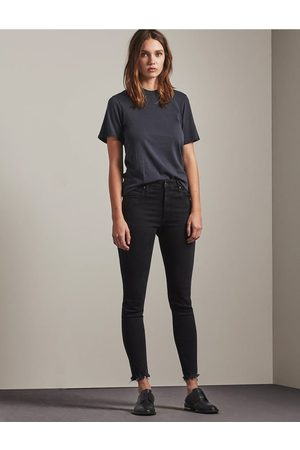 AG Jeans The Farrah Skinny Ankle Jeans in Storm