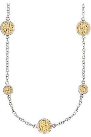 Anna Beck Multi Disc Station Necklace - Gold &