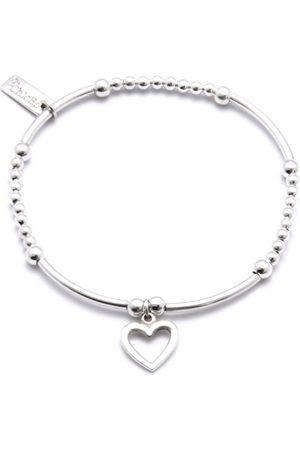 ChloBo Women Bracelets - Cute Mini Bracelet With Open Heart Charm