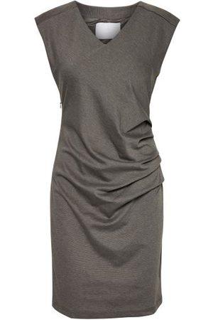 Kaffe Women Sleeveless Dresses - India V Neck Sleeveless Dress - Dark Melange