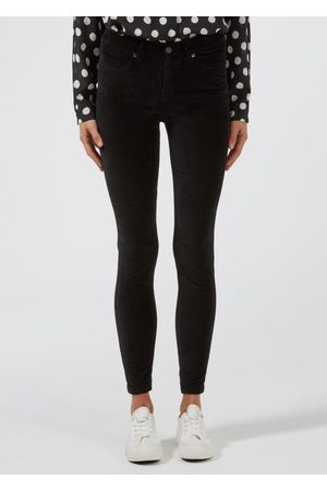 DONNA IDA Rizzo High Top Ankle Skinny Jeans - Noir Velvet